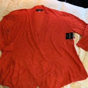 NWT Kasper orange duster sweater 1X plus new